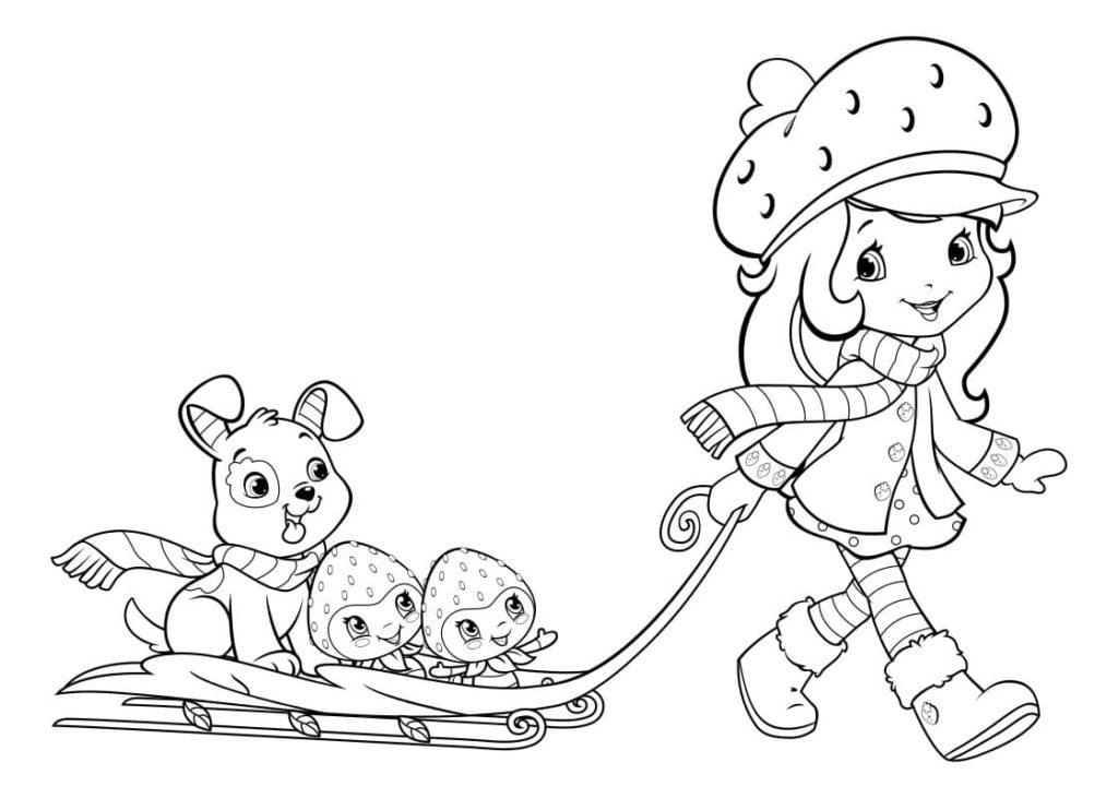 Coloring pages Strawberry Shortcake. Free printable