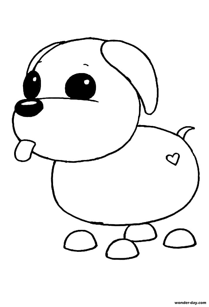 Adopt Me Coloring pages | Wonder-day.com