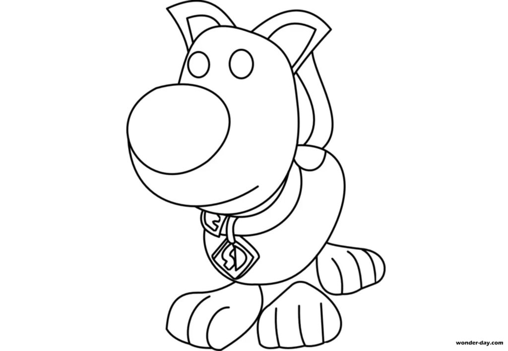 Coloring pages Adopt Me. Print for free | Wonder-day.com