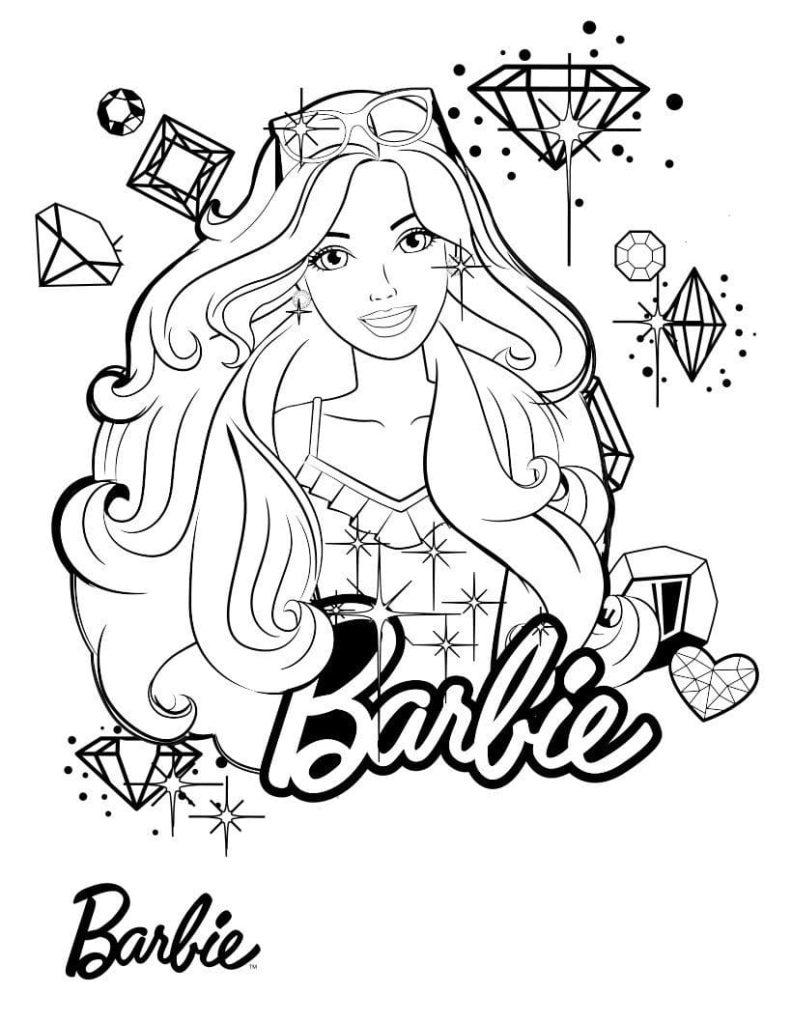 Ausmalbilder Barbie. Kostenlos ausdrucken für Mädchen