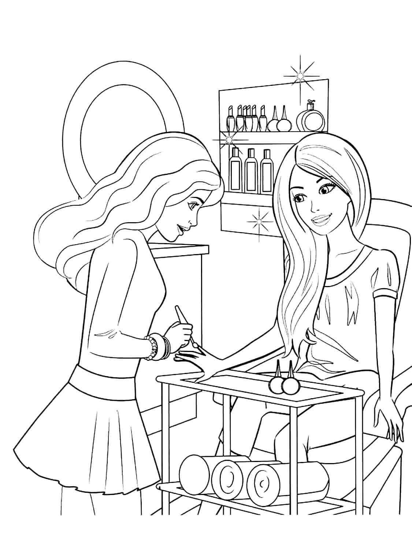 ausmalbilder barbie kostenlos ausdrucken für mädchen
