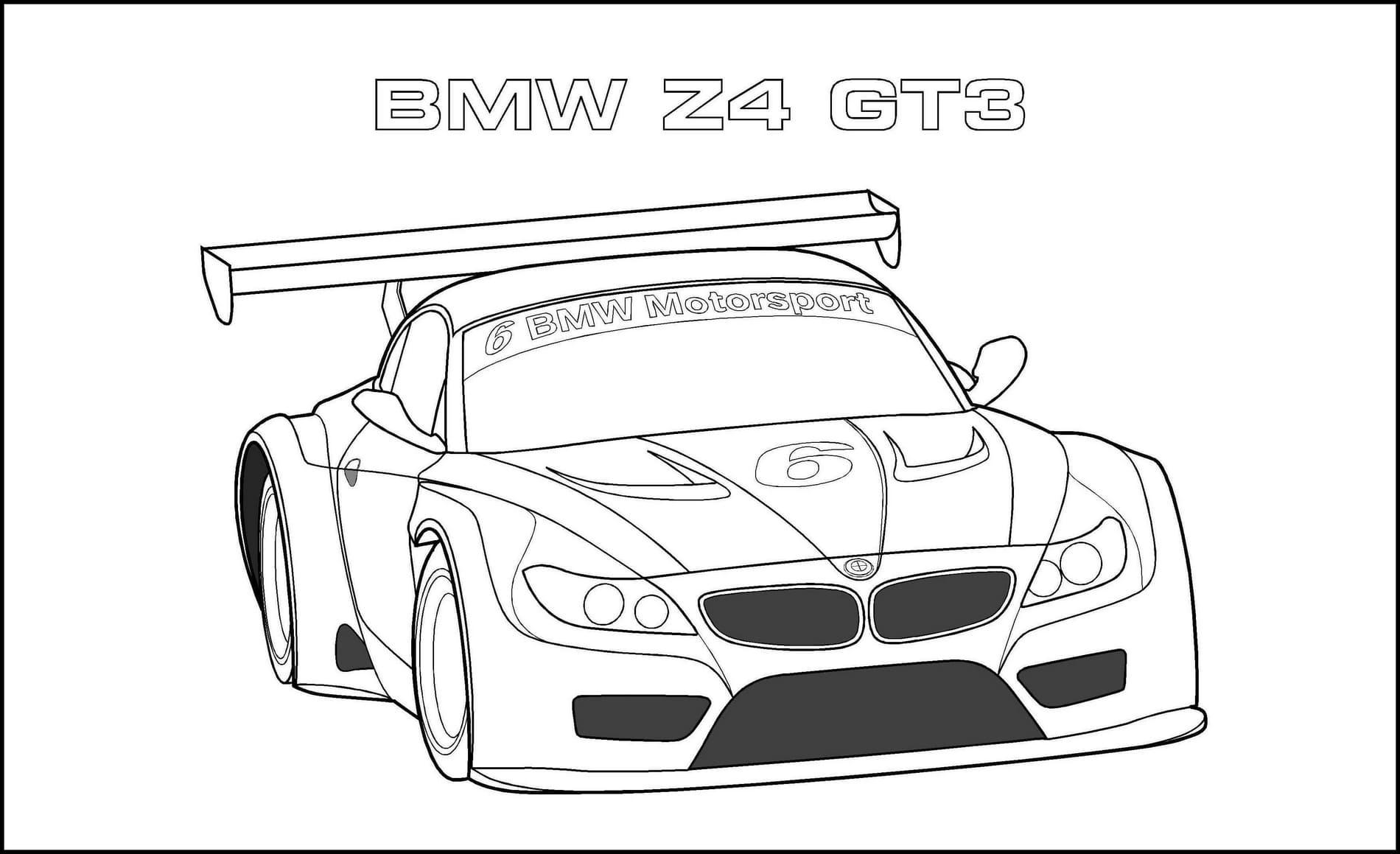 Coloriages de BMW pour les enfants   WONDER DAY
