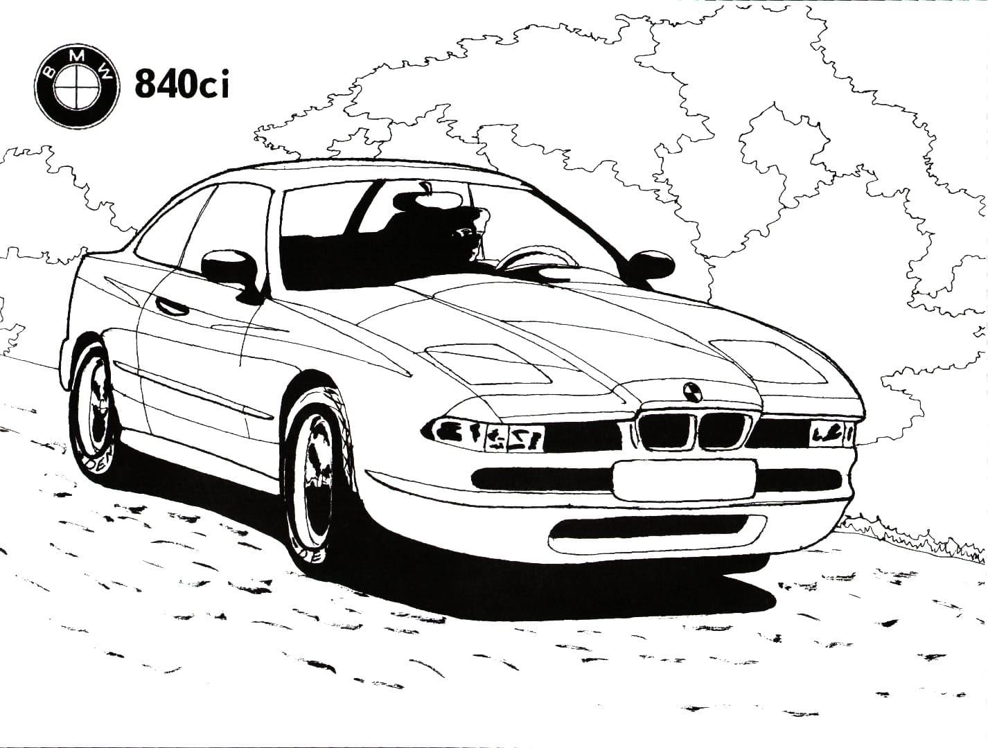 Ausmalbilder BMW. Drucken für Kinder kostenlos  WONDER DAY