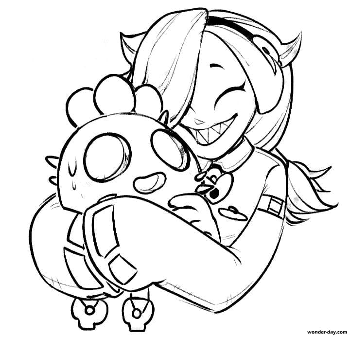 Colette Brawl Stars Coloring Pages — Free Printable