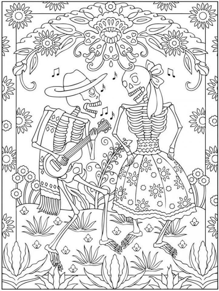 - Dia De Los Muertos Coloring Pages. 100 Free Images