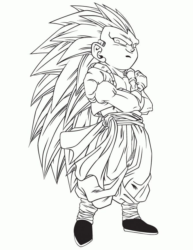 Dragon Ball Z Coloring Pages. Free printable Coloring pages