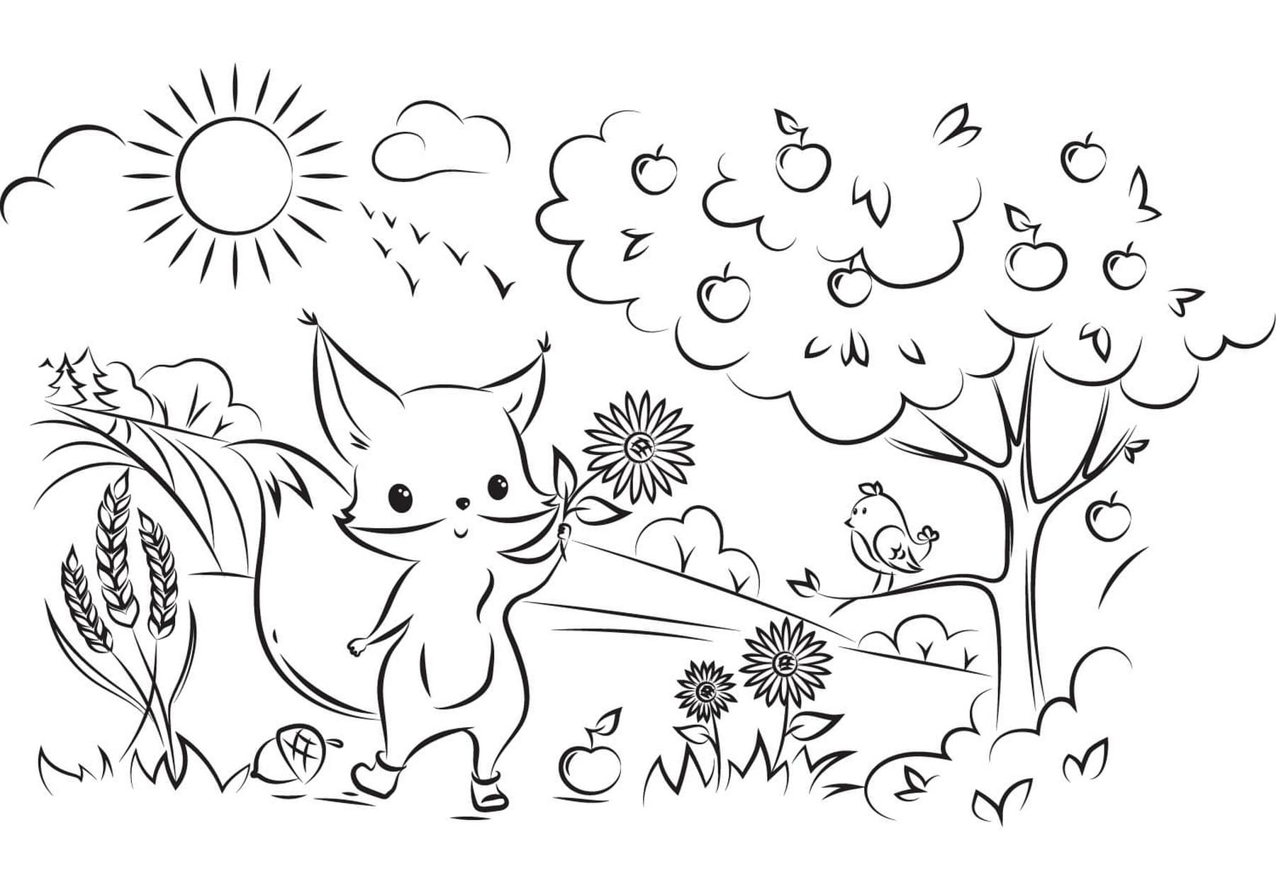 herbst ausmalbilder 120 malvorlagen für kinder  wonder day