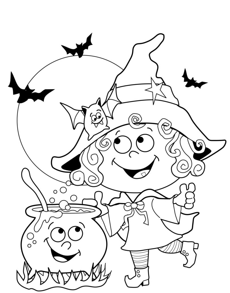 Раскраски на Хэллоуин. 130 Картинок для печати | 2020 год