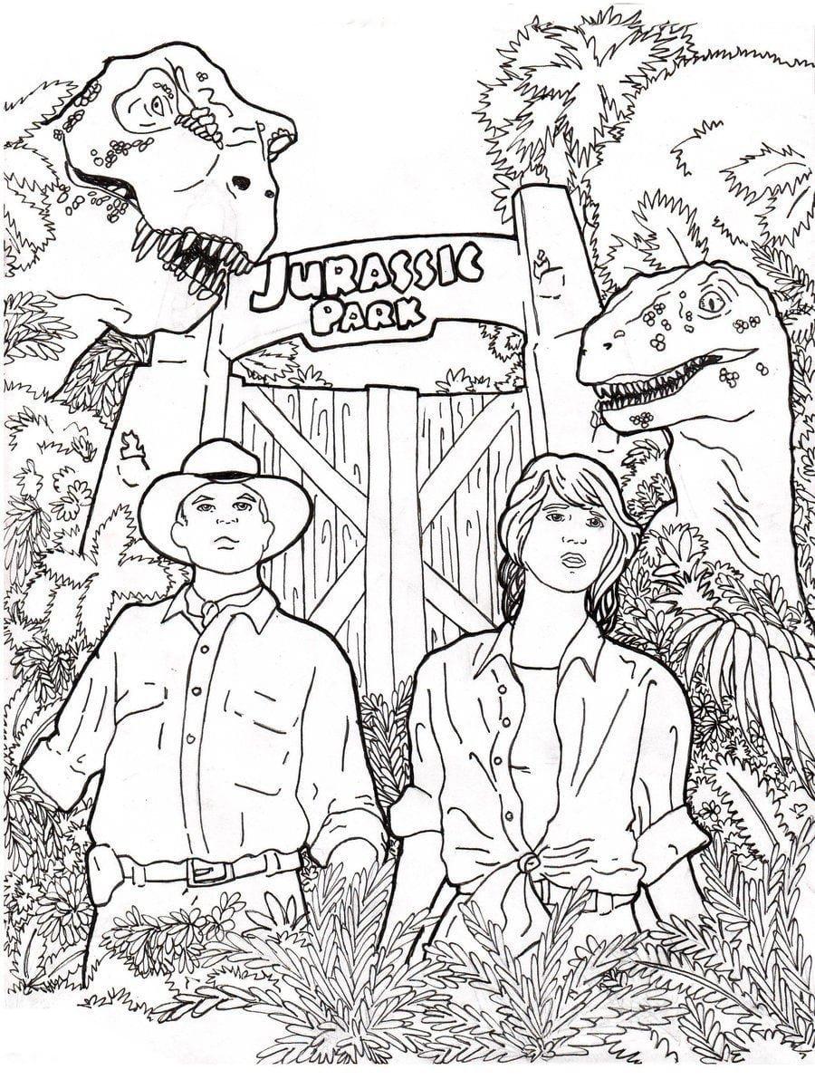 Ausmalbilder Jurassic World. 6 Ausmalbilder für Kinder