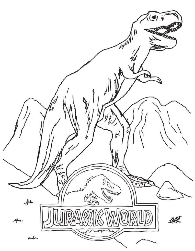 Ausmalbilder Jurassic World. 21 Ausmalbilder für Kinder