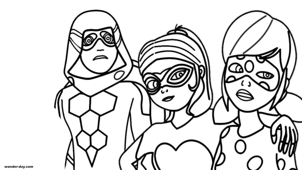 Ladybug and Cat Noir coloring pages. 140 printable Coloring pages