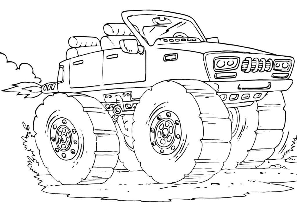 monster truck ausmalbilder kostenlose malvorlagen für kinder