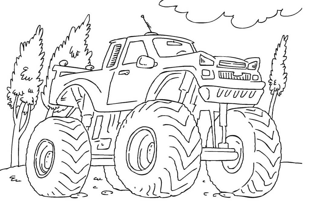 dibujos de monster truck para colorear imprime gratis