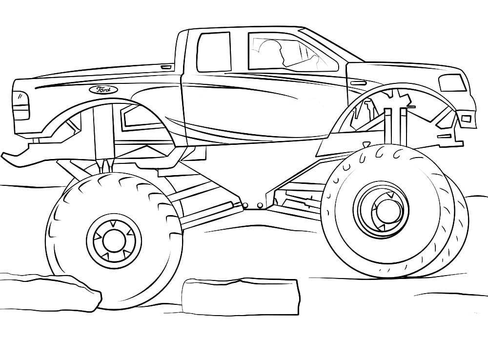 Monster Truck Coloring Pages. Printable For Kids WONDER DAY