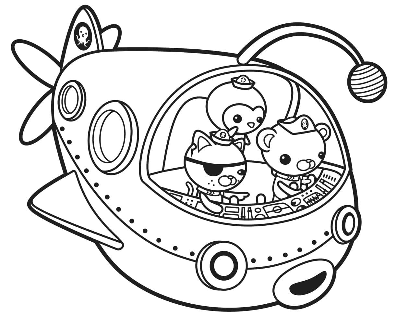 Ausmalbilder Octonauts. Drucken Sie kostenlos für Kinder