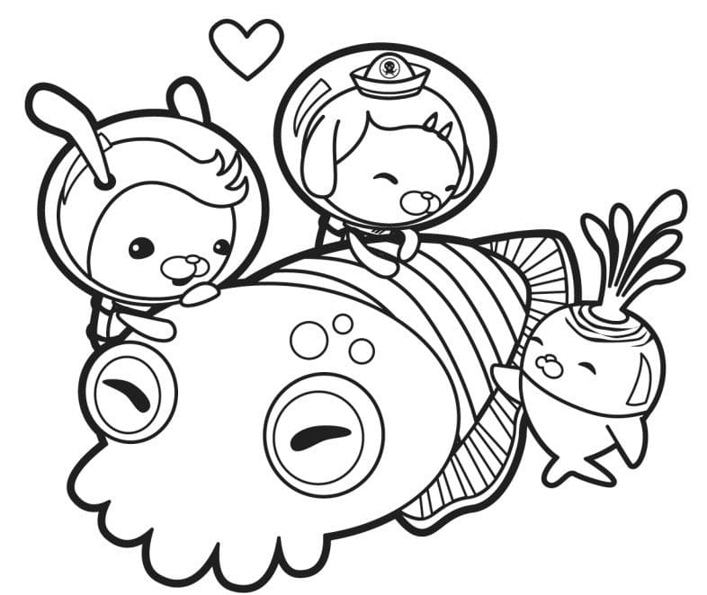- Octonauts Coloring Pages. Print Free For Kids WONDER DAY