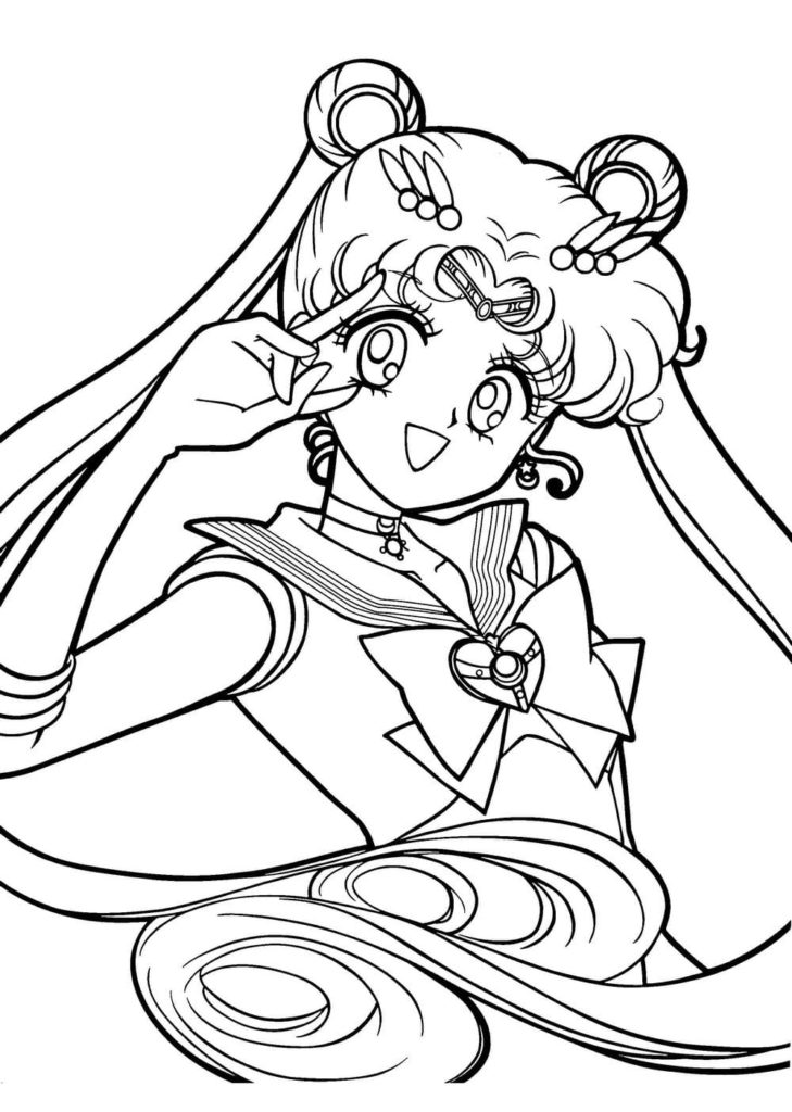 Coloriages Sailor Moon Gratuitement Wonder Day