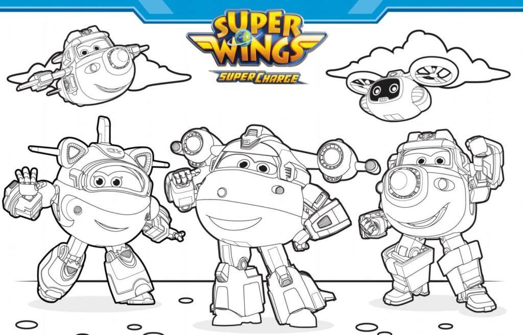super wings ausmalbilder drucken sie für kinder