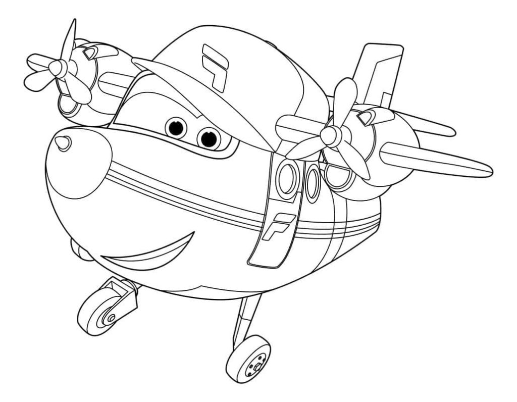 Super Wings Coloring Pages Print For Kids Wonder Day