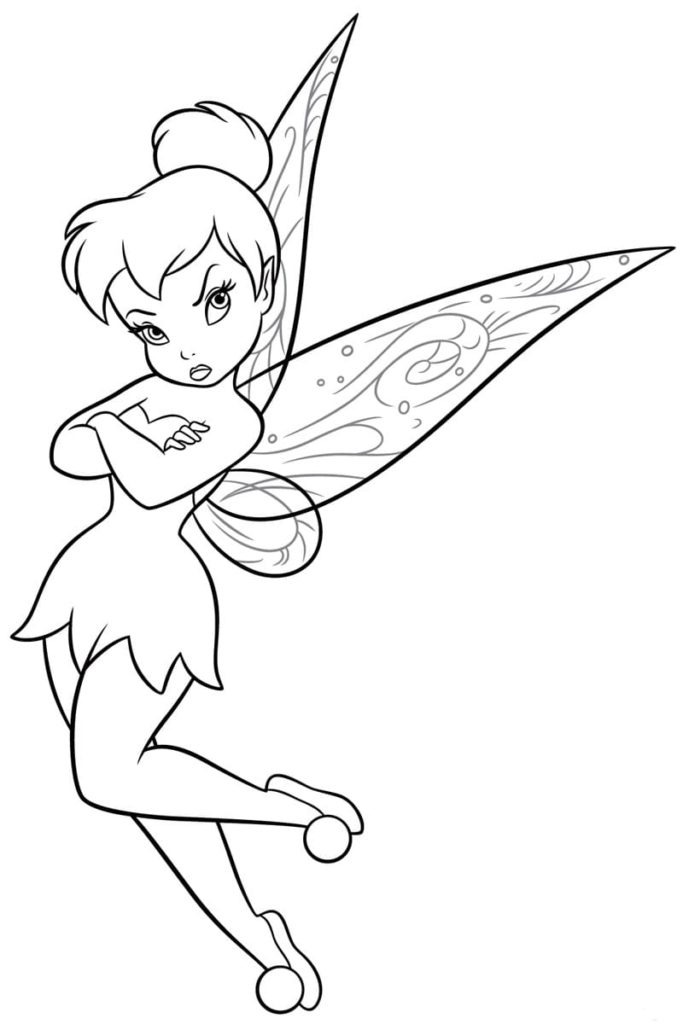 Tinkerbell coloring pages. Disney fairies for girls