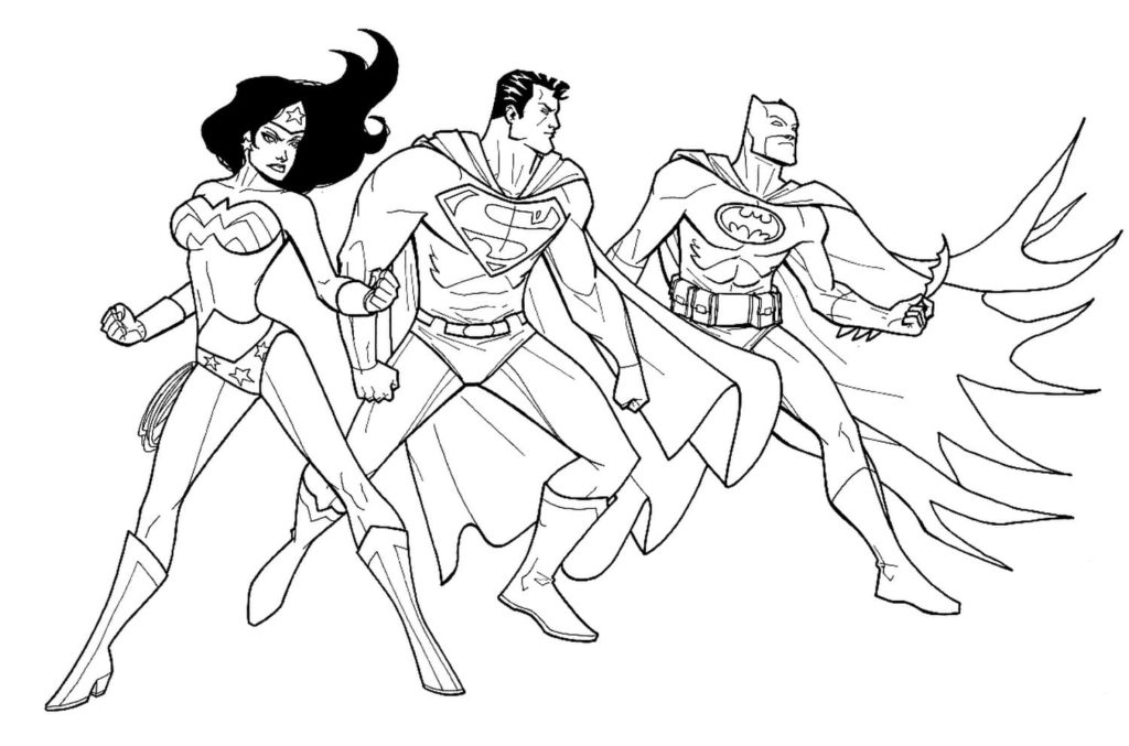 Wonder Woman coloring pages. Print superhero for free