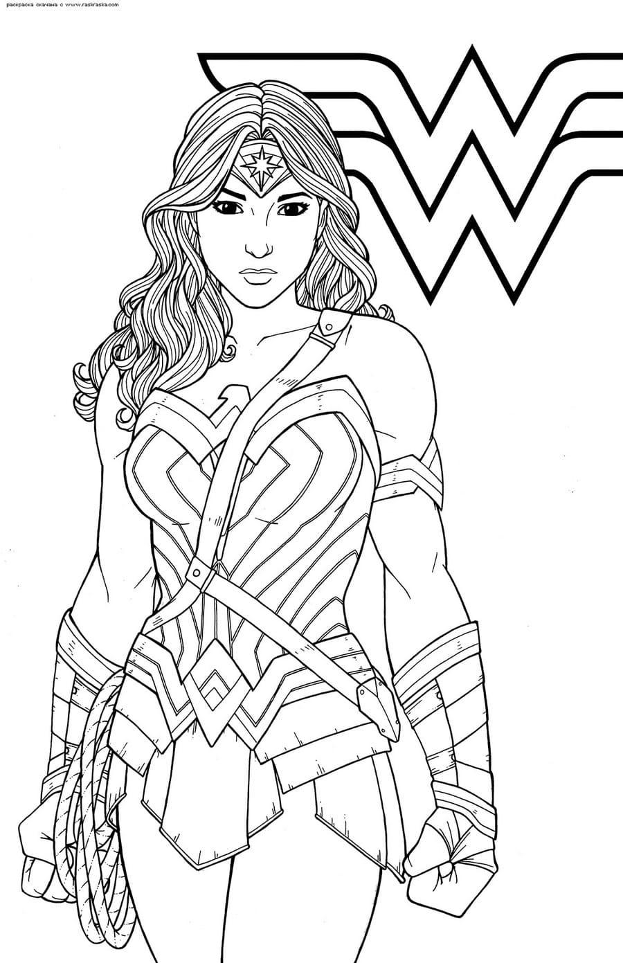 ausmalbilder wonder woman drucken superhelden kostenlos