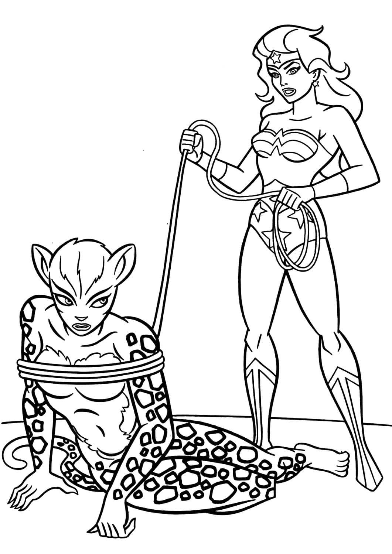 ausmalbilder wonder woman. drucken superhelden kostenlos