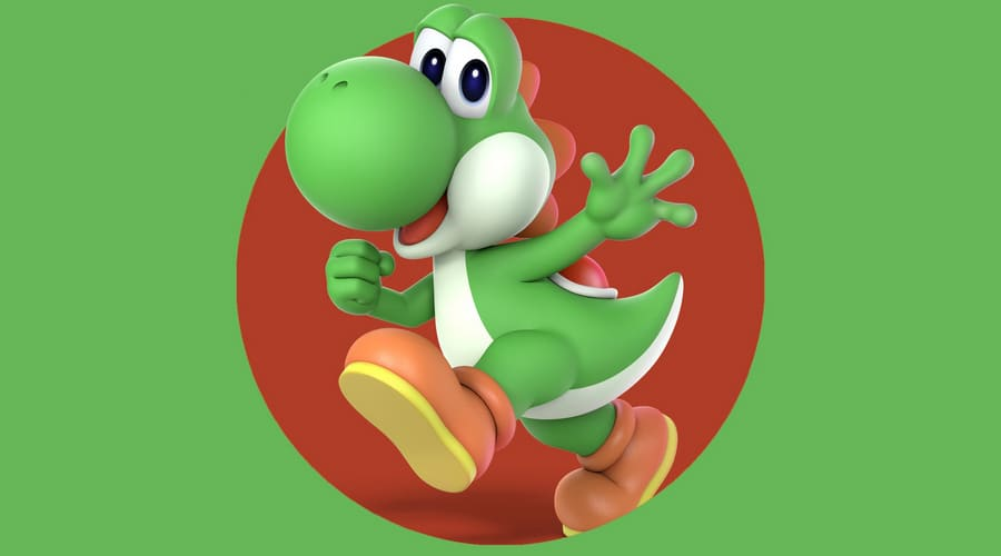 Yoshi Coloring Pages. Print Dinosaur from Mario