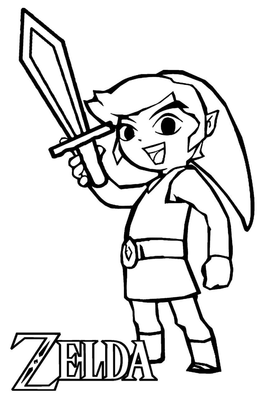Ausmalbilder The Legend of Zelda zum kostenlosen