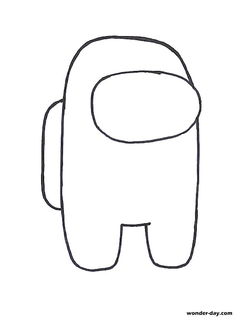 Wie man zeichnet Among Us. 27 Lektionen mit Bleistift