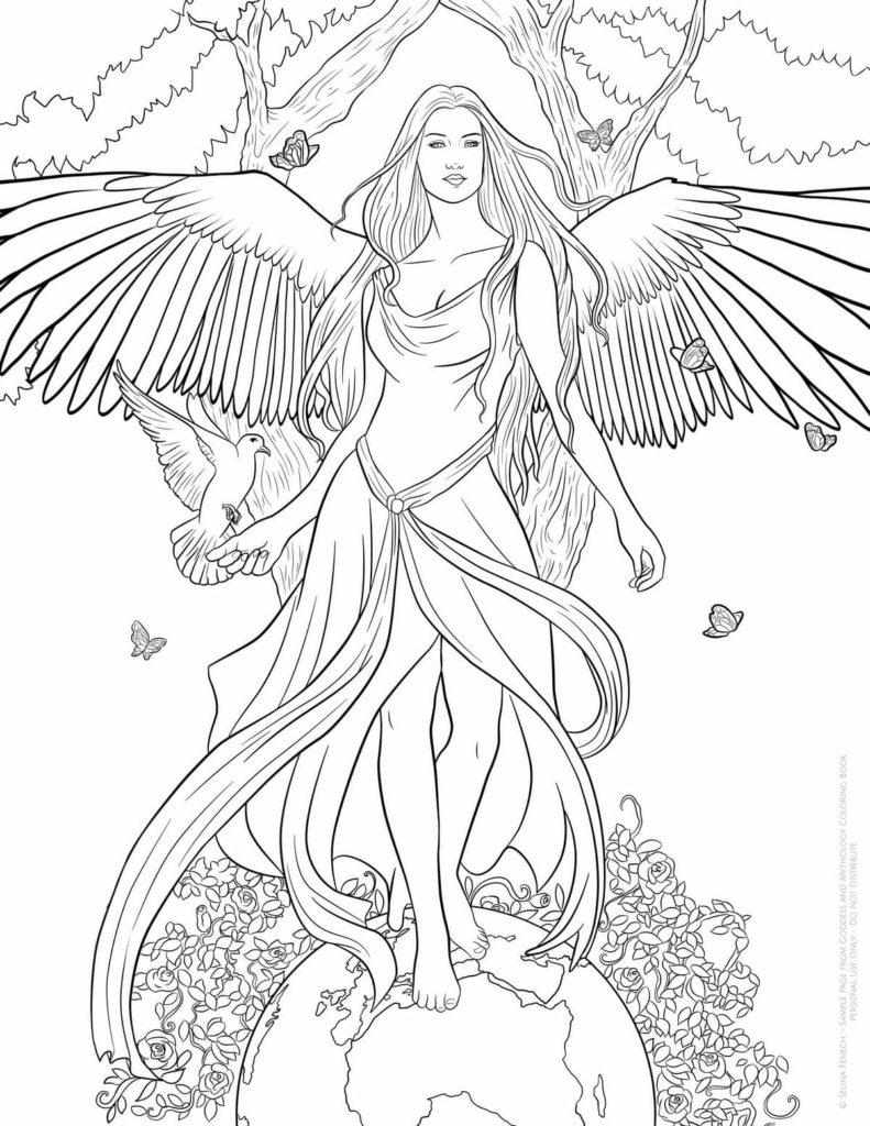 Zum engel bilder ausmalen kostenlos Engel online