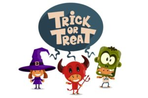 Trick or Treat Coloring Pages. Free Printables