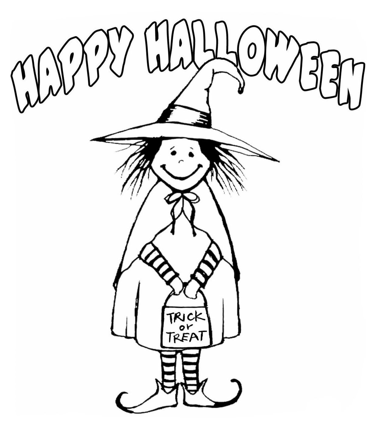 Trick or Treat Coloring Pages. Free Printables | WONDER DAY