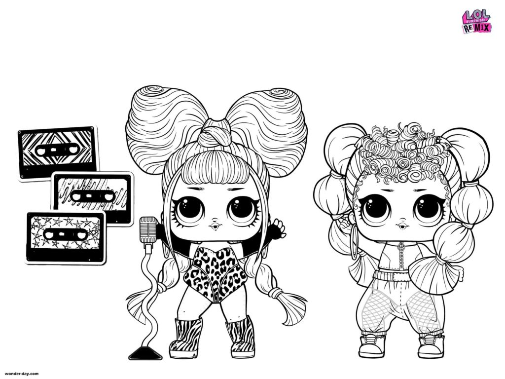 Lol Surprise Dolls Coloring Pages Print In A4 Format