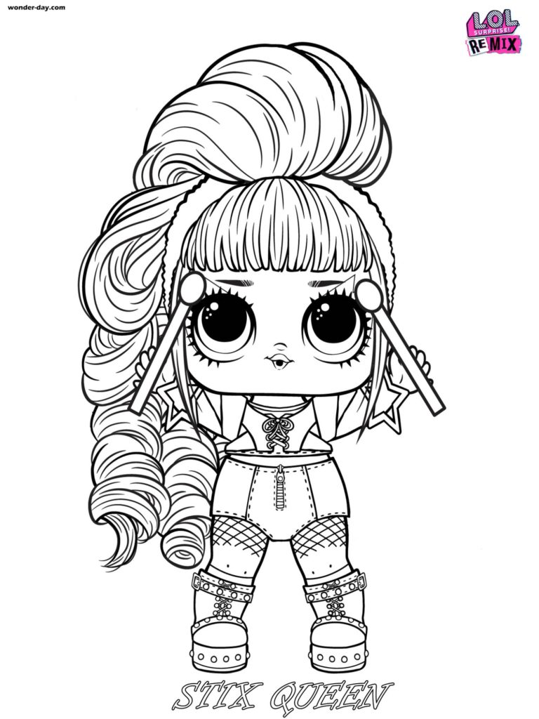 Stix Queen coloring page