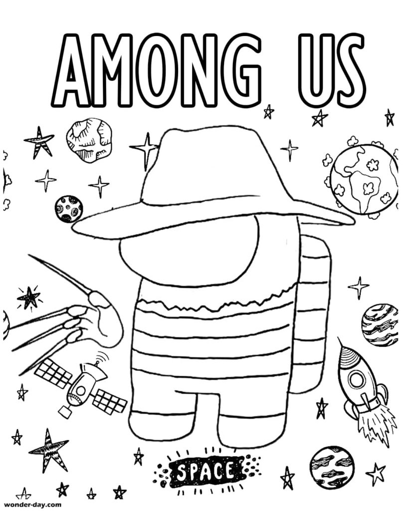 Coloriage Among Us. Coloriages pour enfants sur Wonder-day.com