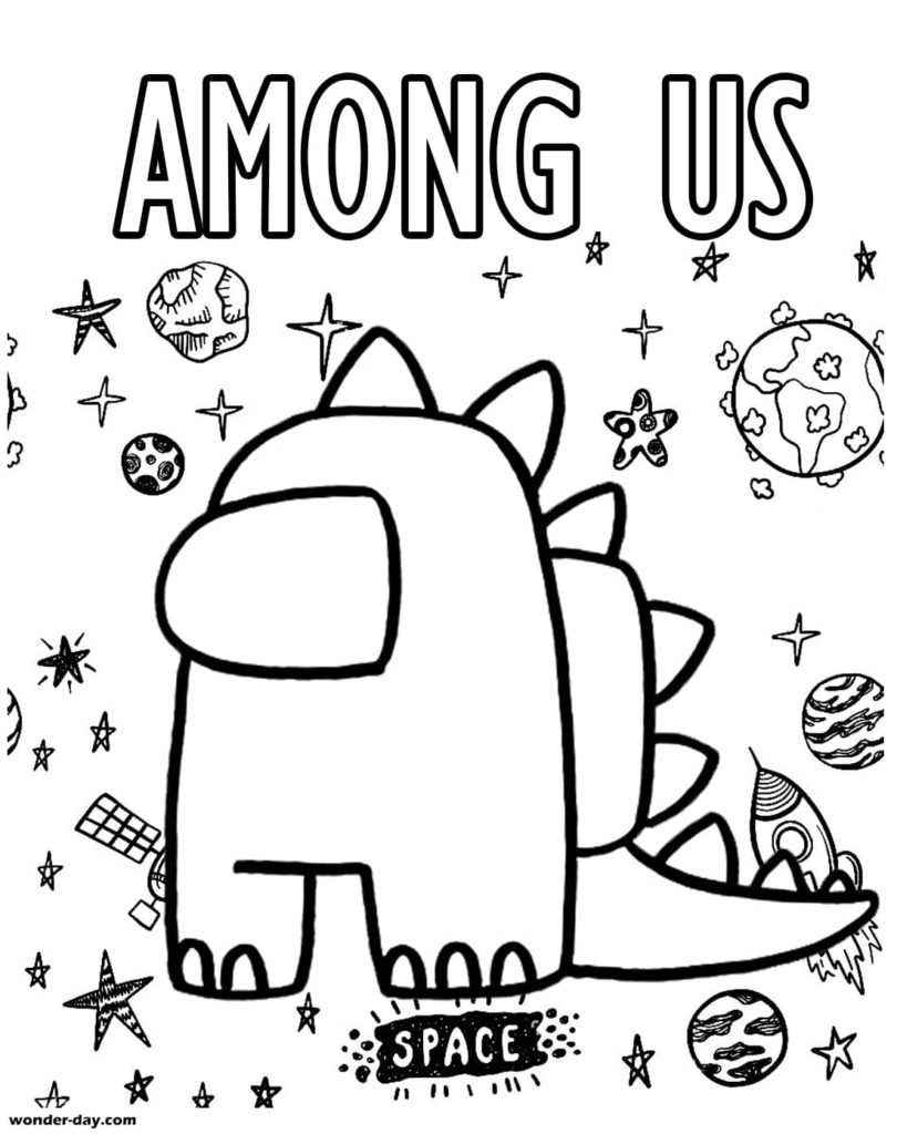 Among As coloring page