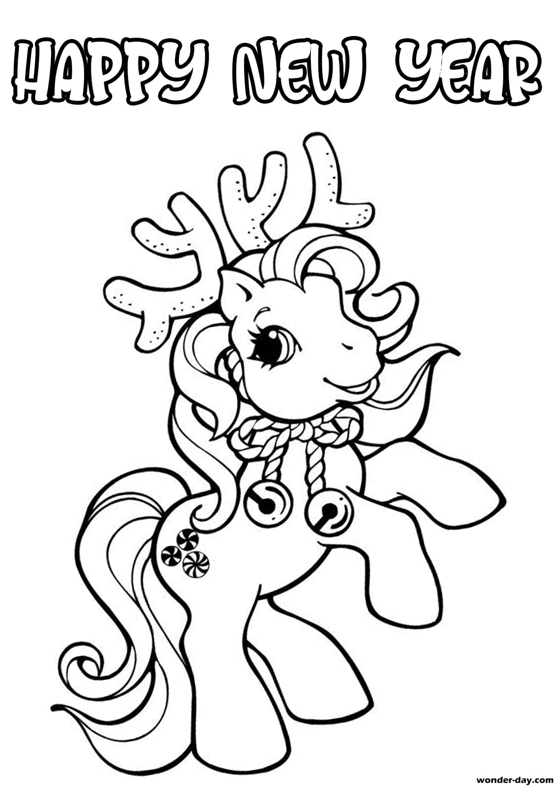 Happy New Year Coloring Pages Print For Free Wonder Day