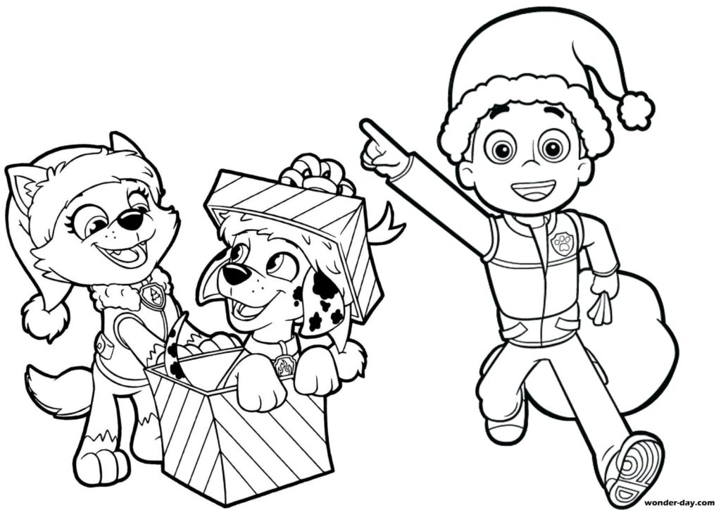 Paw patrol new year coloring book