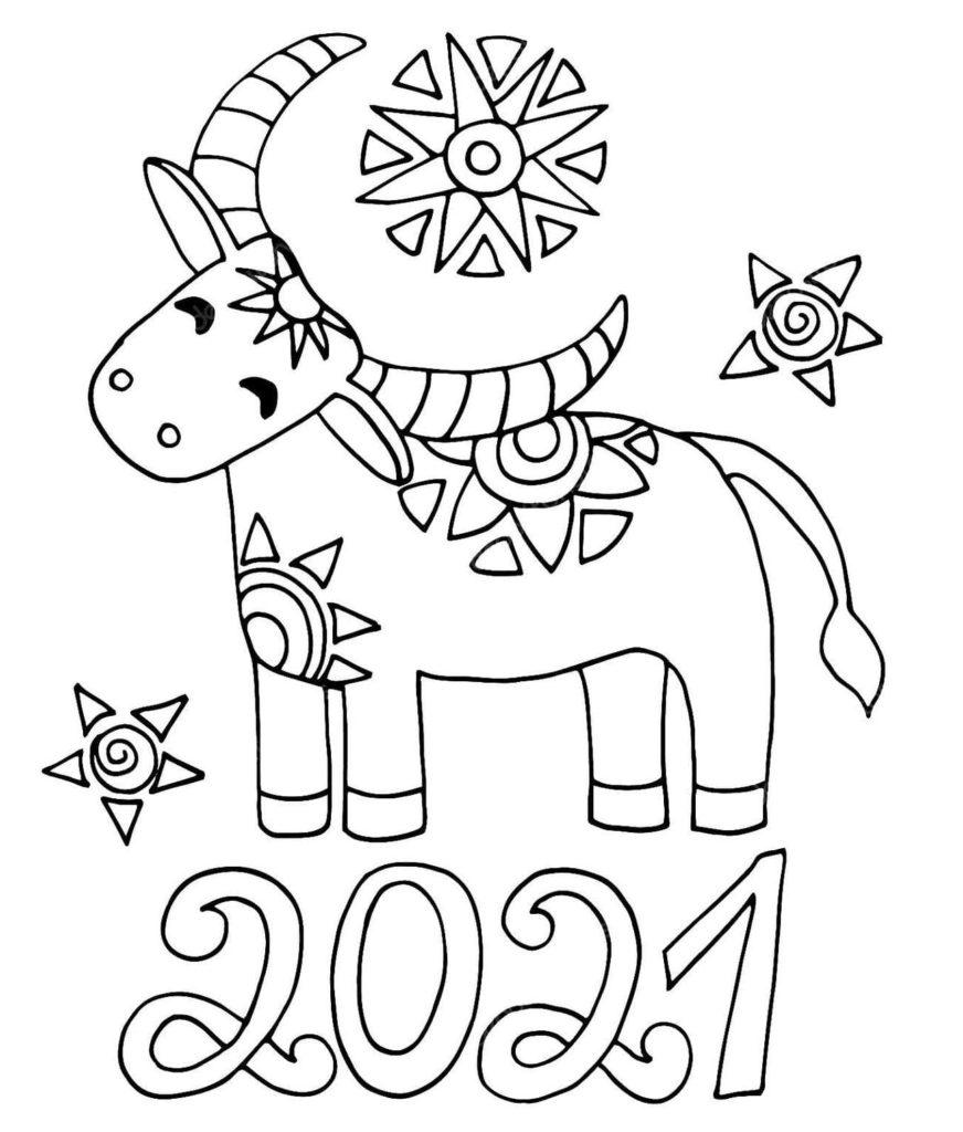 ausmalbilder frohes neues jahr 2021 ausmalbilder silvester