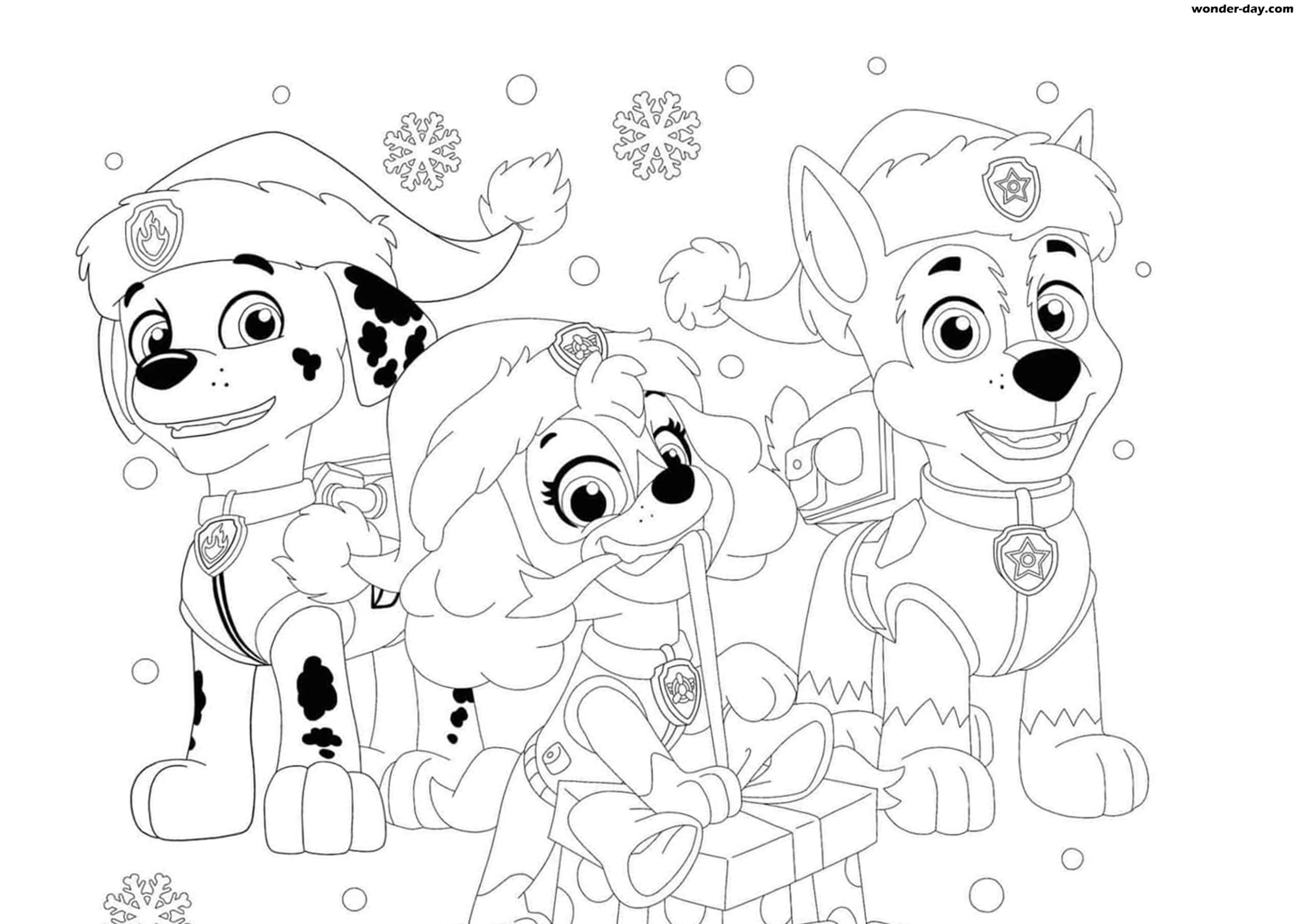 weihnachten paw patrol ausmalbilder zum ausdrucken