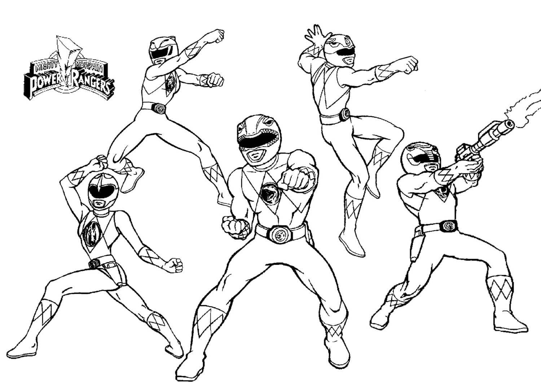 Coloriages Power Rangers a imprimer gratuit | WONDER DAY