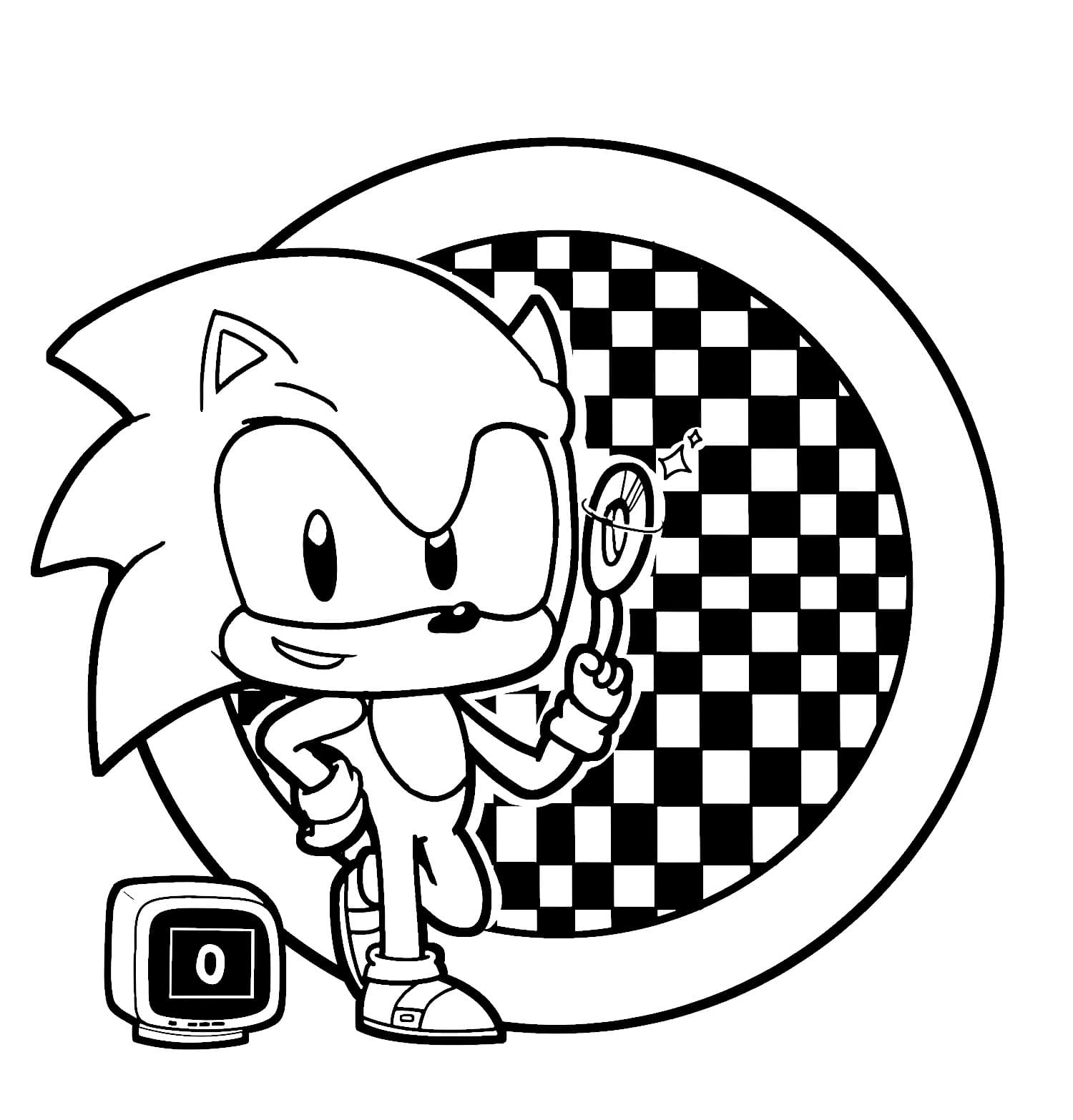 Sonic The Hedgehog Coloring Pages (120 Pieces). Print for free