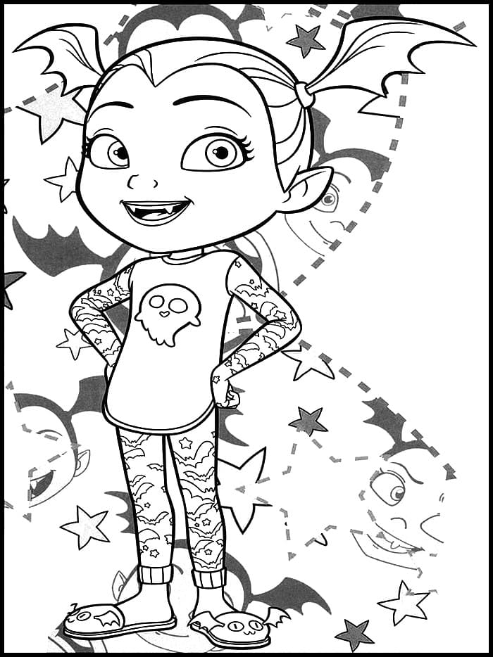 Vampirina Coloring Pages. Printable coloring pages for kids