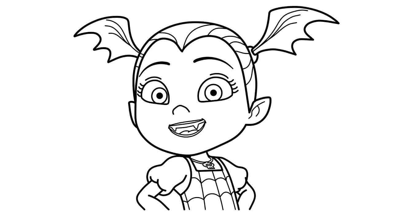 Malvorlagen Vampirina für Kinder  WONDER DAY — Ausmalbilder für