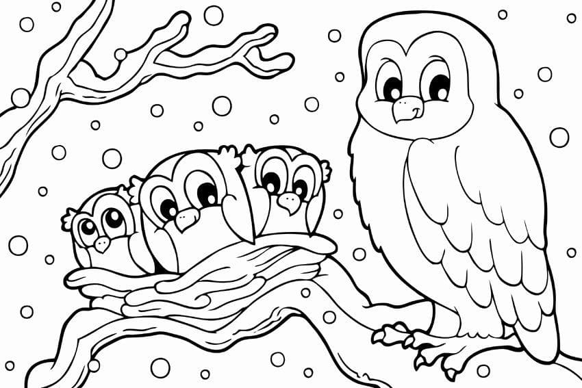 Winter Coloring Pages. Print For Kids In A4 Format WONDER DAY