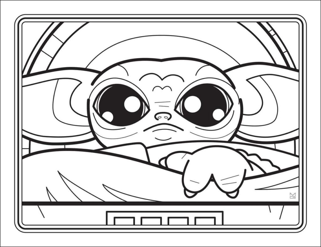 Baby Yoda Coloring Pages Free Printable
