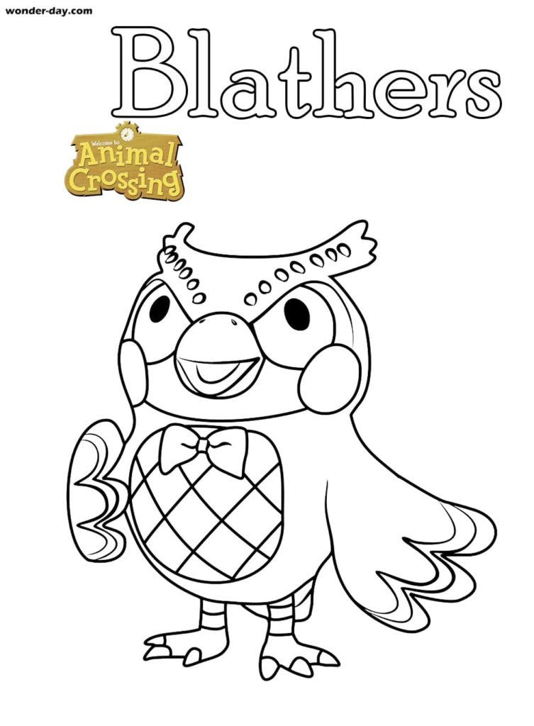 Coloriages Animal Crossing sur Wonder-day.com