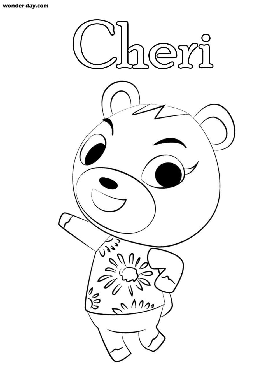 Ausmalbilder Animal Crossing. Malvorlagen für Kinder