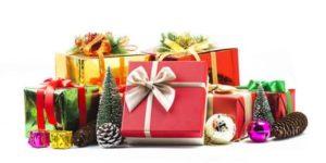 Раскраски Подарок. Новогодние подарки для печати